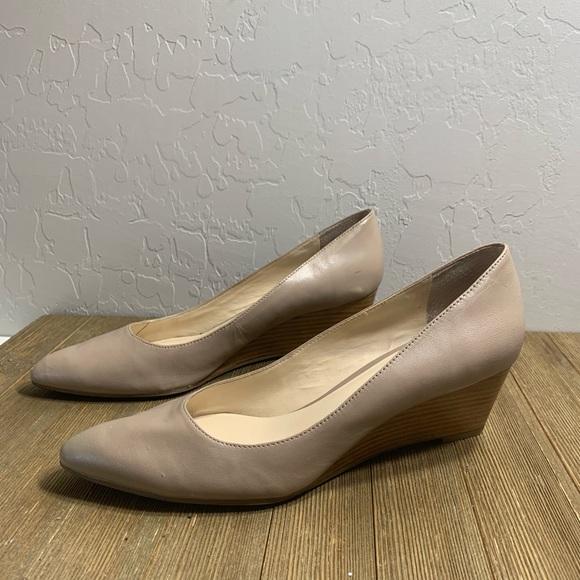 Franco Sarto Shoes - Franco Sarto Tiana nude wedge pumps